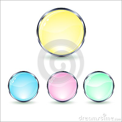 Mint glass button