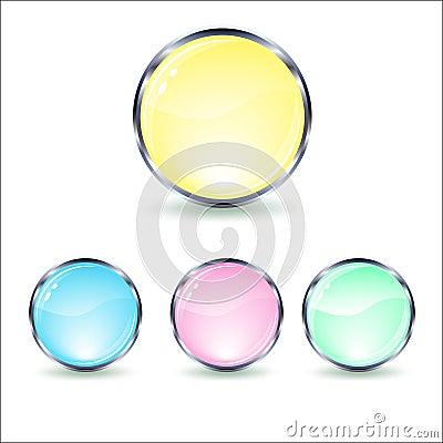 Mint glass button