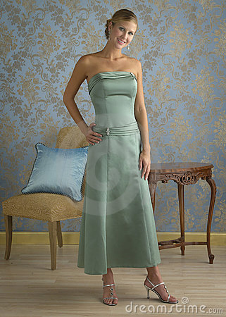 Mint Green Evening Gown