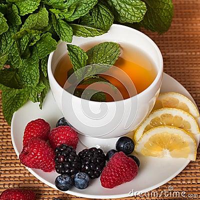 Free Mint Herbal Tea Stock Images - 27950184