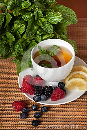 Free Mint Herbal Tea Stock Photo - 27950200