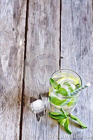 Mint lemonade Stock Photo