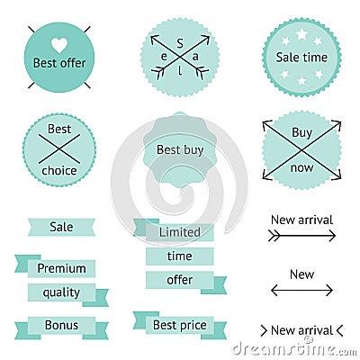 Mint sale labels