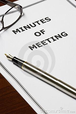 Free Minutes Of Meeting Stock Photo - 10143310