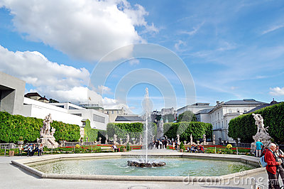 Mirabell garden Editorial Stock Photo