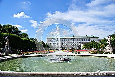 Mirabell Gardens in Salzburg Editorial Photography