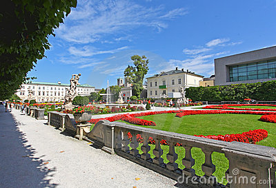 Mirabell palace and garden in Salzburg