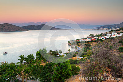Mirabello Bay on Crete at sunrise