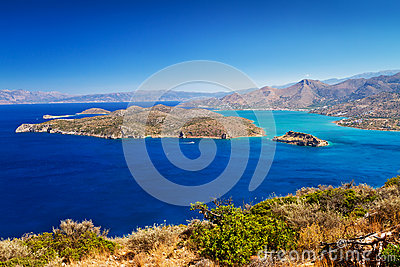 Mirabello bay with Spinalonga island