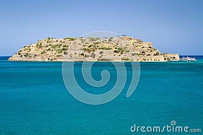Mirabello Bay with Spinalonga island on Crete