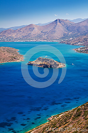 Mirabello bay with Spinalonga island on Crete