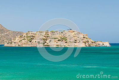 Mirabello Bay view with Spinalonga island on Crete