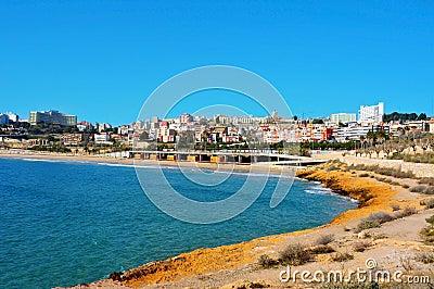 Miracle Beach and panoramic view of Tarragona