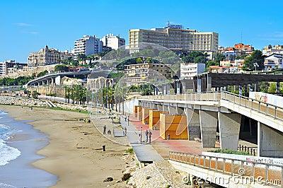 Miracle Beach in Tarragona, Spain Editorial Photo