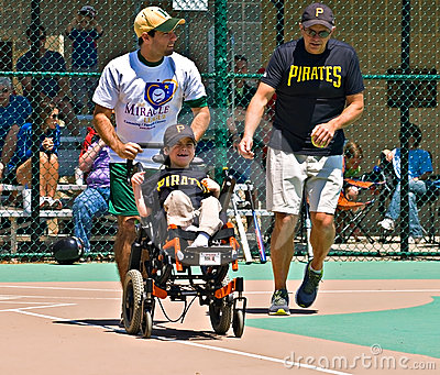 Miracle League Softball Editorial Photo