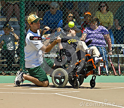 Miracle League Softball for Handicapped Children Editorial Photography