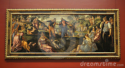 The Miracle of Loaves and Fishes, by Tintoretto Editorial Photo