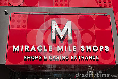 The Miracle Mile Shops Sign in Las Vegas, NV on May 20, 2013 Editorial Photography