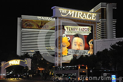 Mirage Hotel and Casino in Las Vegas Editorial Photo