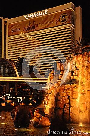 Mirage Hotel and Casino in Las Vegas Editorial Photo