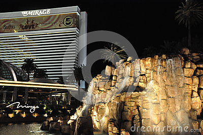 Mirage Hotel and Casino in Las Vegas Editorial Photography