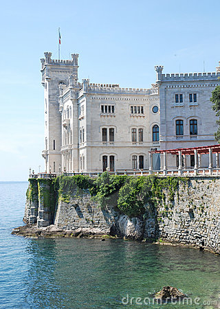 Miramare castle, near italian city Trieste
