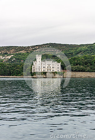 Miramare Castle from the sea, Trieste  Italy