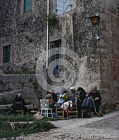 MIRANDA DEL CASTAÑAR, SPAIN – JUNE, 1980 Editorial Stock Photo