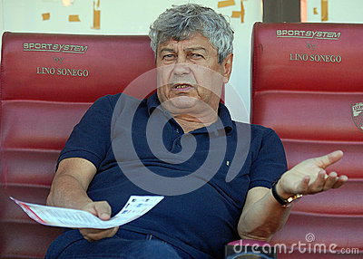 Mircea Lucescu in Dinamo Bucharest-Shaktar Donetk Editorial Photography