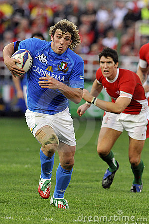 Mirco BERGAMASCO at RBS 6 Nations Editorial Photo