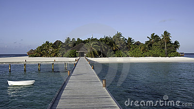 Mirihi - A small tropical island, Maldives