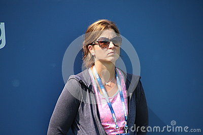 Mirka Federer Redaktionell Arkivfoto