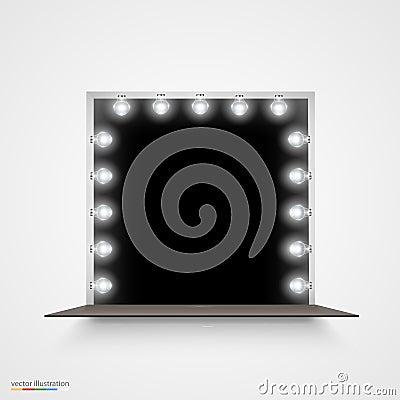 miroir avec des ampoules pour le maquillage illustration de vecteur image 49458569. Black Bedroom Furniture Sets. Home Design Ideas