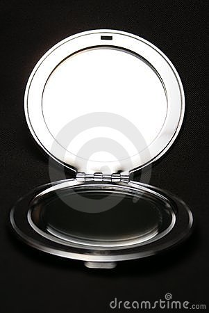 Miroir brillant en m tal photos stock image 3043763 for Miroir noir download