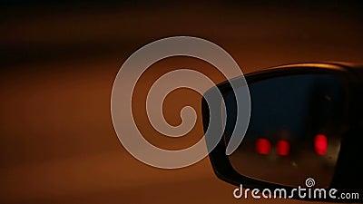 Miroir de voiture à la grande vitesse clips vidéos