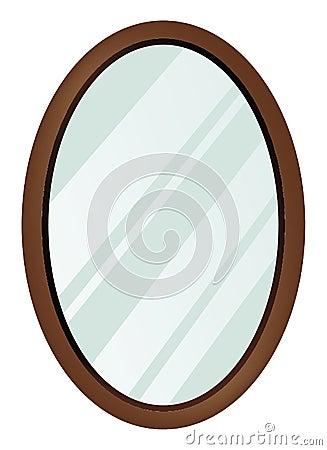 Miroir ovale image stock image 15096151 for Miroir dessin