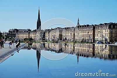 Mirror in Bordeaux Stock Photo