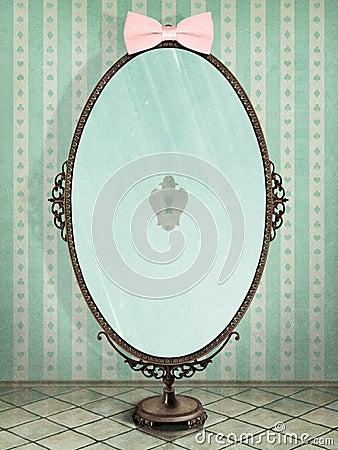 Mirror Cartoon Illustration
