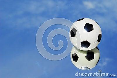 Mirror football sky