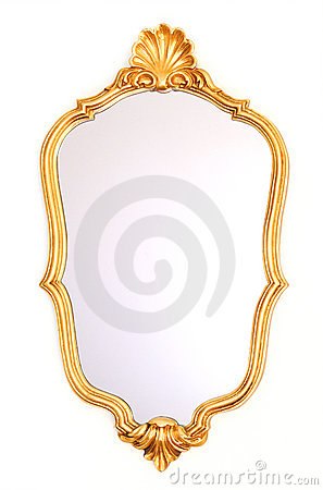 Free Mirror Gold Frame Royalty Free Stock Images - 18865689
