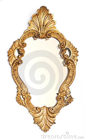 Free Mirror Gold Frame Royalty Free Stock Photos - 18865728