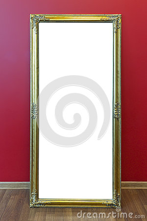 Mirror golden frame