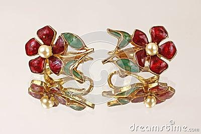 Mirror Image Flower Earrings