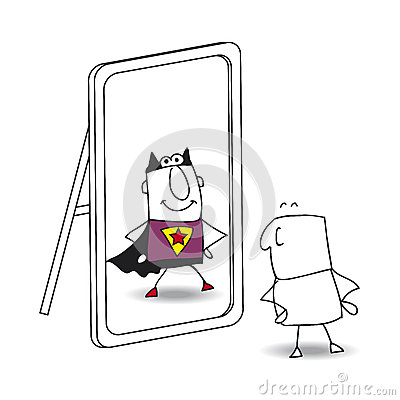 The mirror Vector Illustration