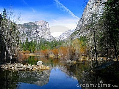 Mirror Lake at Yosemite National Park