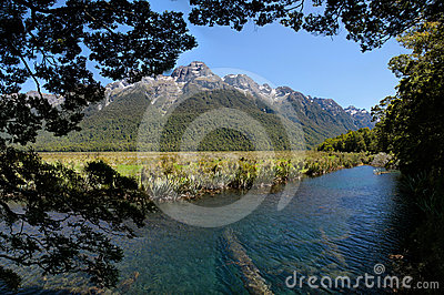 Mirror Lakes at the Milford Road