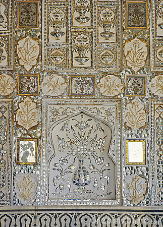 Mirror mosaics decorate