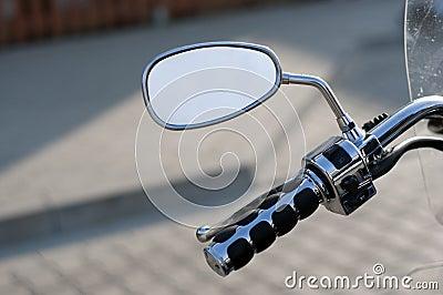 Mirror of motorbike
