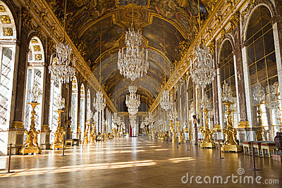 Mirror s hall of Versailles Chateau Editorial Photo