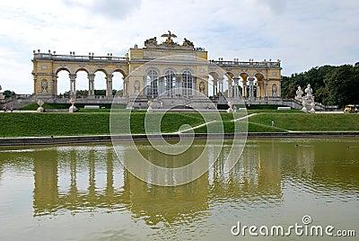 Mirror in the Schönbrunn palace of Vienna